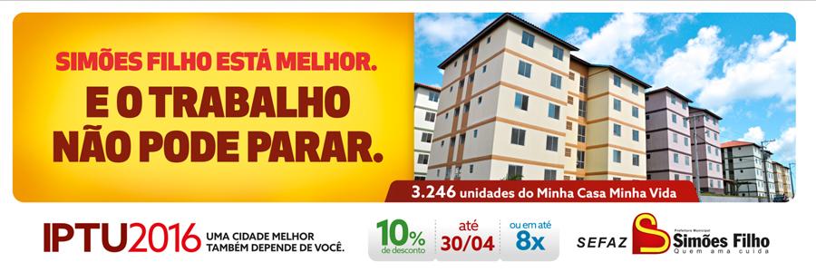 IPTU 2016 Simões Filho